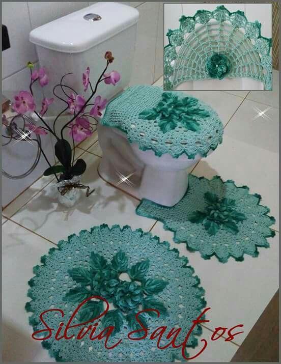 Accesorios De Baño A Crochet:set de baño more baños crochet baño verde caminos deme crochet