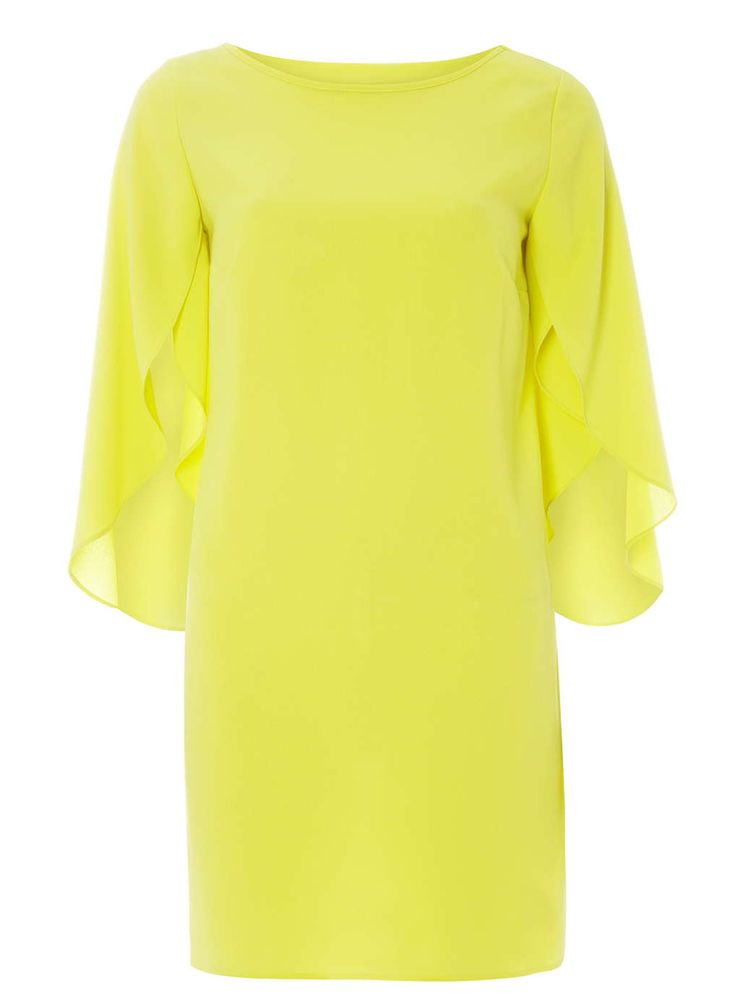 Lime split sleeve shift dress - Dorothy Perkins