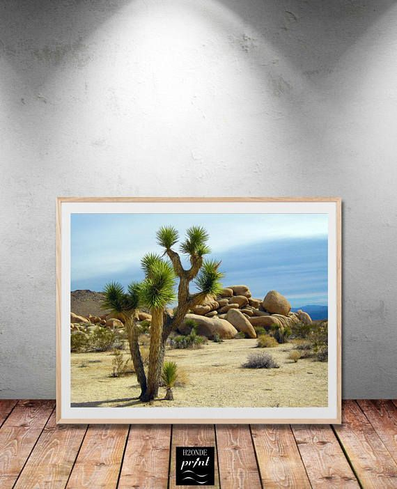 Joshua tree park print poster wall art desert california palm nature botanical printable living office wild land poster large decor boho photo  Your purchase includes 5 high resolution .jpeg files (300 dpi)