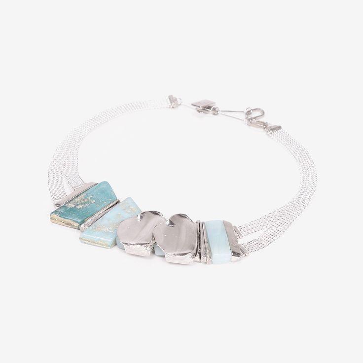 REVO || Artisan necklace, handmade in Canada by Anne-Marie Chagnon (2017) || Collier fait à la main à Montréal, par l'artiste bijoutière Anne-Marie Chagnon