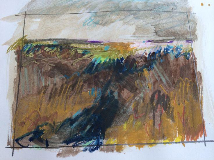Drawing after walk on Scorhill, Dartmoor. Alice Sheridan