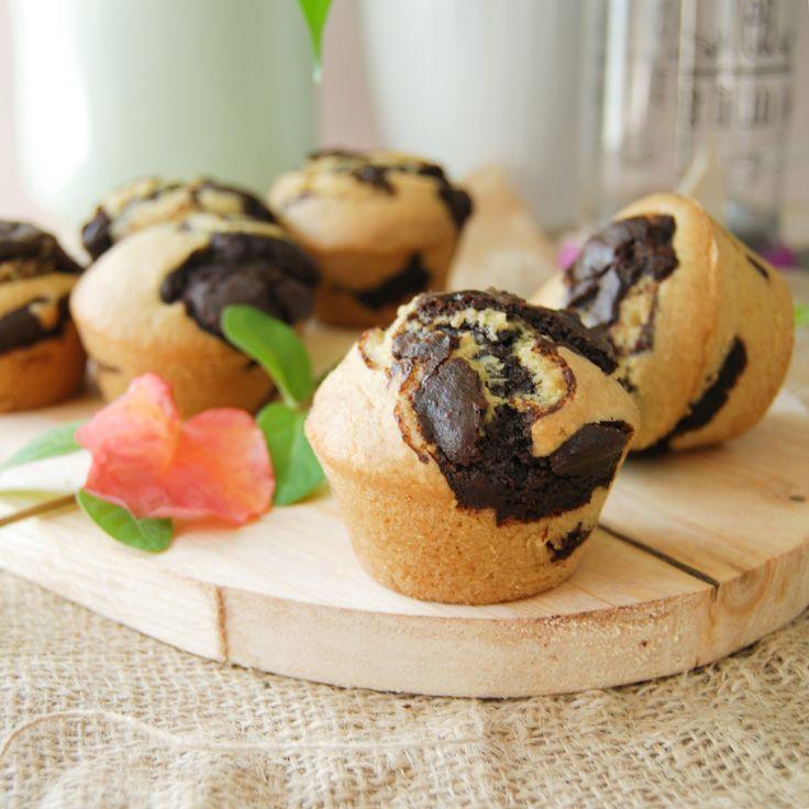 Muffins marbrés au chocolat – Qui a invité l'herbivore ?