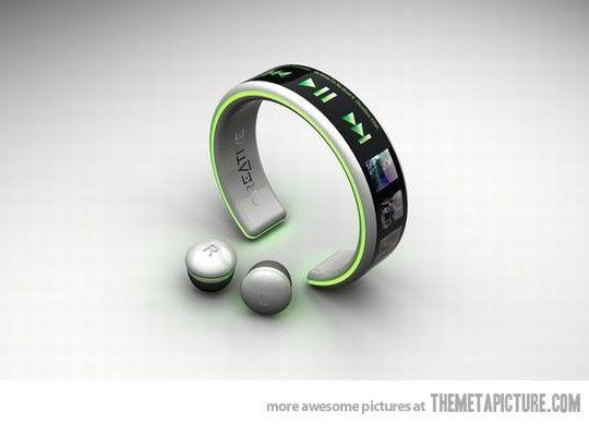 like.Music, Mp3 Players, Technology, Gadgets, Wireless Mp3, Stuff, Bracelets, Players Creative, Products