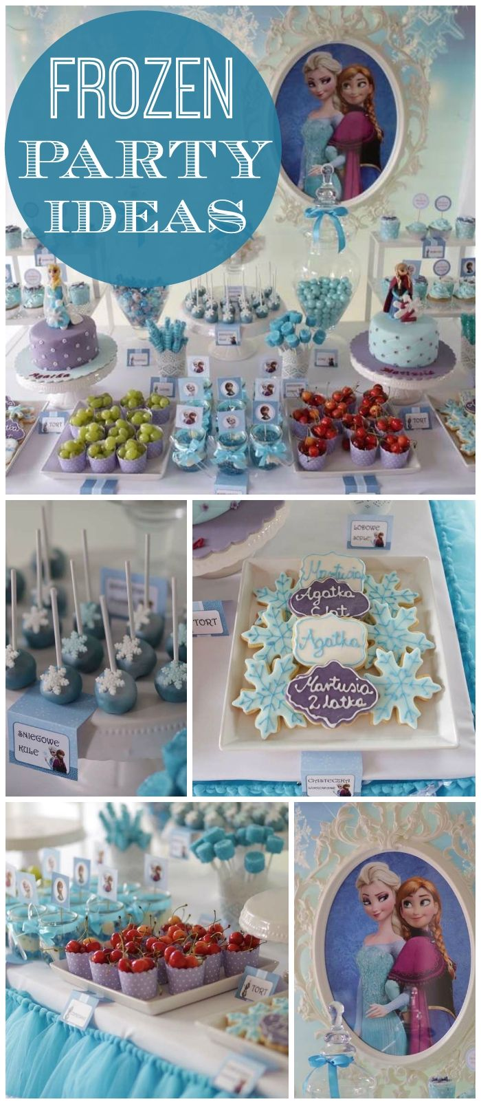 You have to see this gorgeous Frozen birthday party! See more party ideas at CatchMyParty.com!