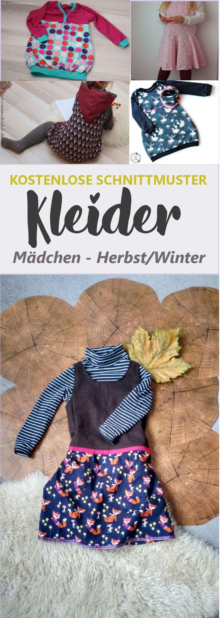 Schnittmuster Kleid Mädchen kostenlos | Herbst/Winter • eager self