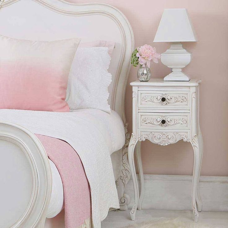 Squat Shabby Chic White Table Lamp | Table Lamp