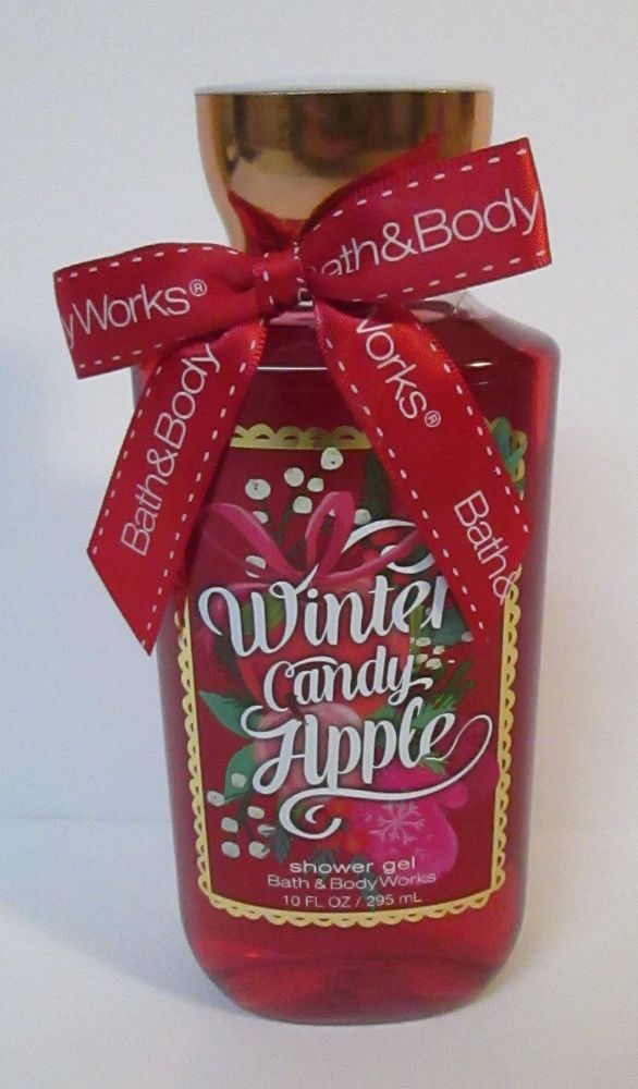 Bath & Body Works WINTER CANDY APPLE Bath Shower Gel 10 oz  Christmas Scent #BathBodyWorks