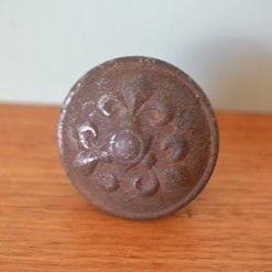 Vintage brass metal door handle knob Lot 5