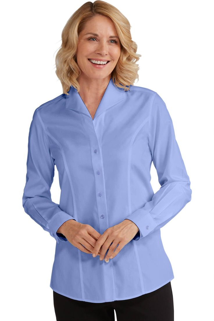 Foxcroft™ for TravelSmith Non-Iron Wing-Collar Shirt: #Travelsmith $52.99 - $59.99