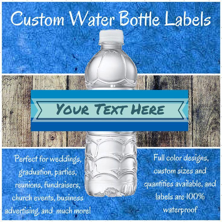 Full Color Custom Water Bottle Labels/Wedding Water Bottle Labels/Event Water Bottle Labels/Waterproof Water Bottle Labels/Bottle Labels #lundtlettering Check out our Etsy shop at lundtletteringdesign.etsy.com