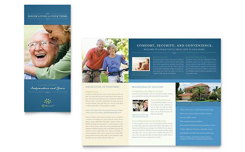 Free Tri-Fold Brochure Templates   Senior Living Community - Tri Fold Brochure