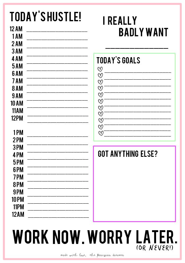 Best 25+ Daily schedule template ideas on Pinterest Daily - day to day planner template free