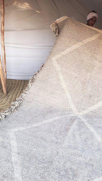 Image of Moroccan Kilim Rug - Diamond Pattern Flatweave #3