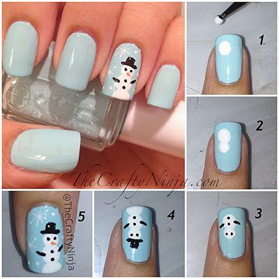 iStars: DIY: Xmas nails - nehty ve vánočním stylu!