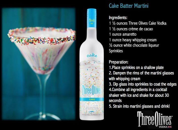 Three olives cake flavored vodka drink recipes Food Cake Recipes