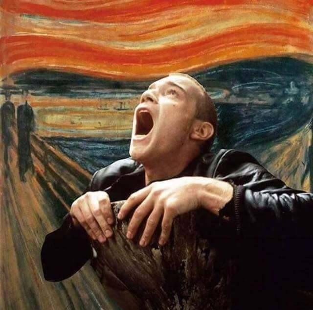 The Scream of Mark Renton #Trainspotting #Munch Ewan McGregor