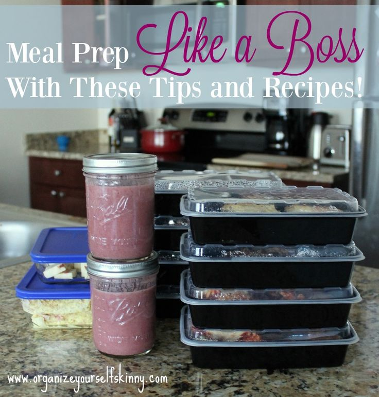 Meal prep like a boss with these tips and recipes! This is the best collection of meal prep tips around! Prep all your meals for the week on Sunday!