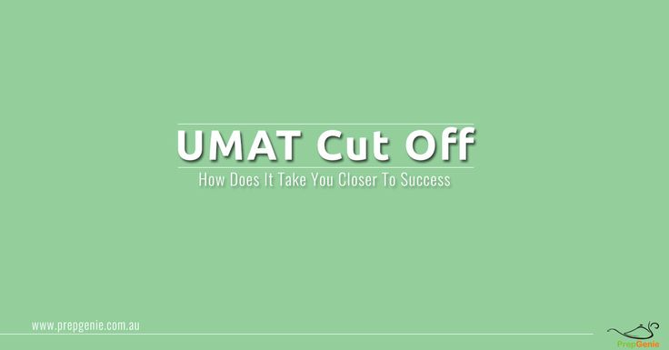 A cut off in UMAT is the min score needed to get admission to the participating universities. Low scores imply your failure of appearing for the interview.