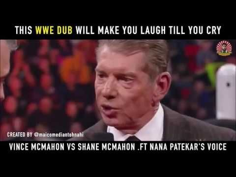 WWE Hindi Dubbed Meets Bollywood Ft Nana Patekar Funny Dub Mashup Hindi ...