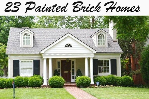 painted brick home