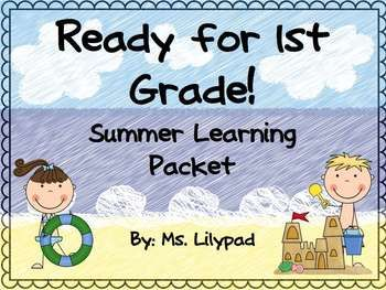 Don't let the end of the year sneak up on you!  Summer learning packet for the end of K / summer transition to 1st grade.  VERY parent-friendly and can be sent home with absolutely no prep. $