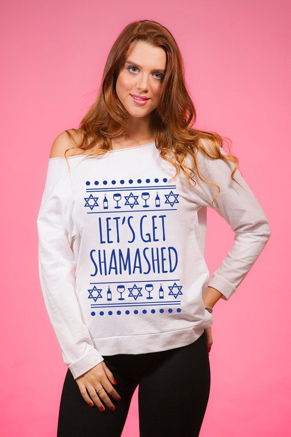 Let's Get Shamashed, Jewish Ugly Sweater, Getting Lit, Star of David Sweater, Hanukkah 2016, Ugly Chanukah Sweater, Hanukkah Gift, for Women