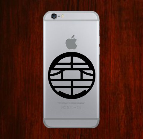 Dragon ball z kai symbols phone decal sticker for all phone cover are made out of highest quality vinyl shop over mac designs at decal on top