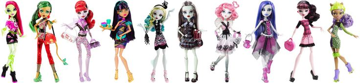 A list of Monster High dolls, fashion packs, playsets, figures, and other items organized by series. Dolls can also be viewed by release date, exclusives, mansters, ghouls, pets, budget dolls, and …