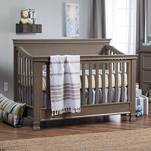Million Dollar Baby Classic Foothill 4-in-1 Convertible Crib with Toddler Bed Conversion Kit Manor Grey
