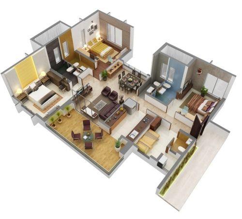 Contoh Rumah Modern Minimalis 1 Lantai Type 45 Tanpa Partisi