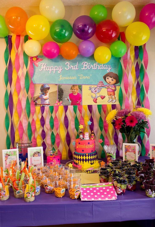 Beautiful Dora birthday spread!