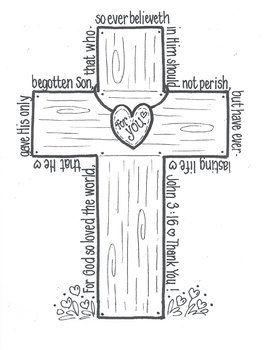JOHN 3:16 'CROSS' - TeachersPayTeachers.com