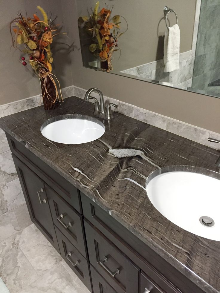 Brown Cygnus Granite - Mayfield, NY | Granite bathroom ...