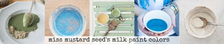 Miss Mustard Seed's Milk Paint Colors  - Colors Collage - video description of all 18 colors