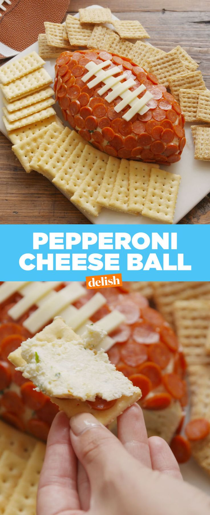 This Pepperoni Cheese Ball Is *The* Game Day Snack