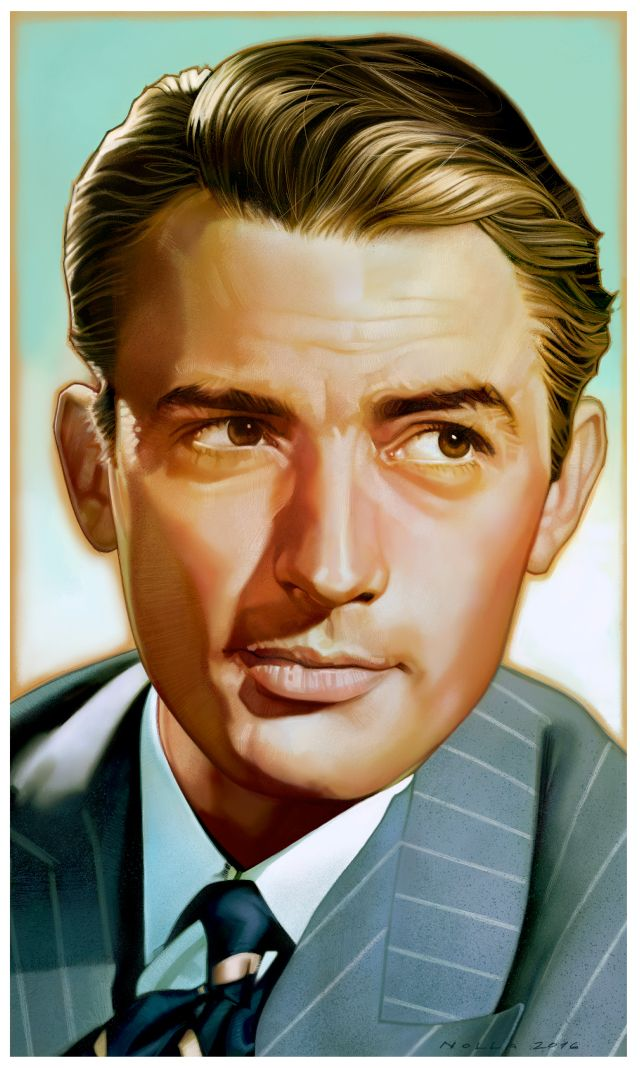 Gregory Peck portrait. Some portraits of Hollywood Classics on Behance