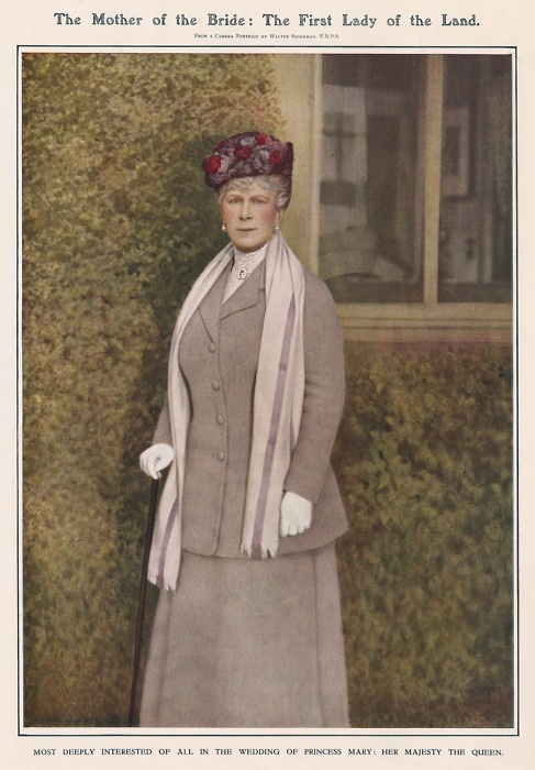 The Mother of the Bride The formidable Queen Mary, from The Illustrated London News Wedding Number, March 4 1922 - celebrating the occasion of the wedding of her daughter, Princess Mary, to Henry Charles George, Viscount Lascelles, at Westminster Abbey the previous month. Queen Mary was a regular visitor to Goldsborough Hall during the 1920s