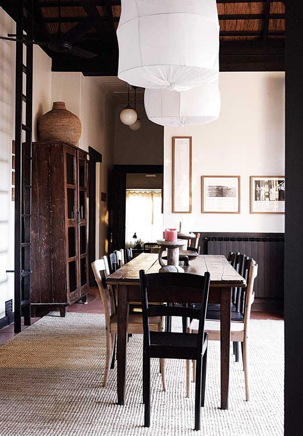Bright and rustic dining room!
