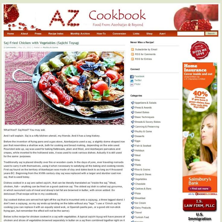 AZ Cookbook - Food from Azerbaijan  The website 'www.azcookbook.com/' courtesy of Pinstamatic (http://pinstamatic.com)