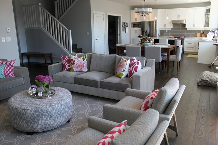 Pretty Family Room, designed by Amanda Forrest