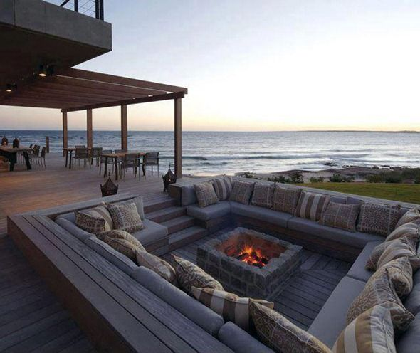 built in outdoor firepit by ocean-- hello? May I have this in my backyard?