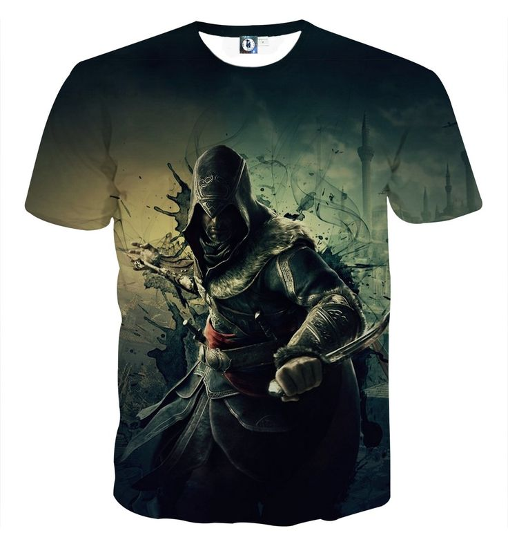 Assassin's Creed Ezio Auditore Dark Themed Portrait Dope T-shirt    #Assassin'sCreed #EzioAuditore #DarkThemed #Portrait #Dope #T-shirt