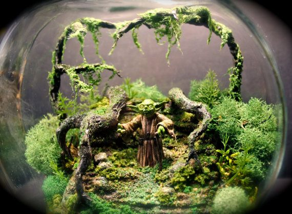 RETURN TO DAGOBAH - Yoda Bowl Deluxe Zen Garden  Dagobah Terrarium / by Megatone230, $165.00