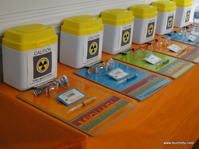Love these favors at a Mad Scientist party.  See more party ideas at CatchMyParty.com!