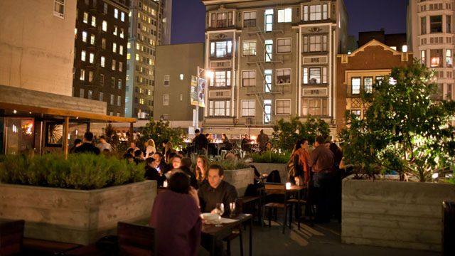 Rooftop bar 620 Jones Bar in San Francisco