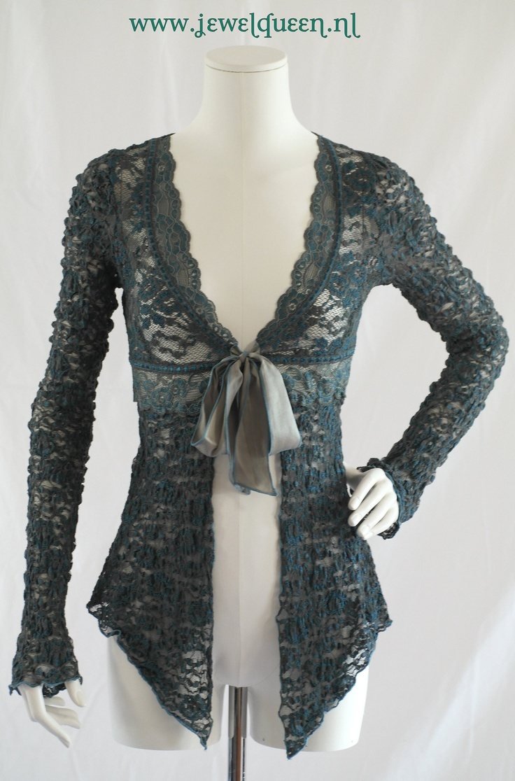 ANN FERRIDAY SLIMM CARDIGAN, color mermaid, one size fits most                  WWW JEWELQUEEN NL
