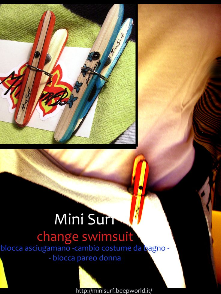 "Mini Surf ""Change Swimsuit"" blocca asciugamano  x cambio costume, per surfisti, beach people   disponibile anche in versione woman blocca pareo   http://minisurf.beepworld.it/"