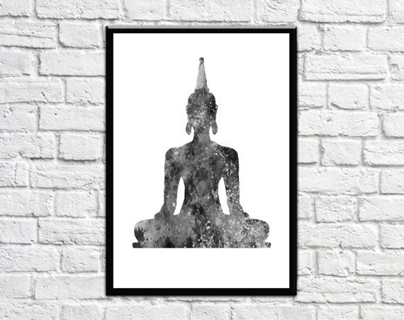 Print No: B20  Buddha Large Wall Print as a Wall Decor - Printable wall art.  File Dimensions you will receive are: 8 x 10 11 x 14 16 x 20 A2 - $6.99