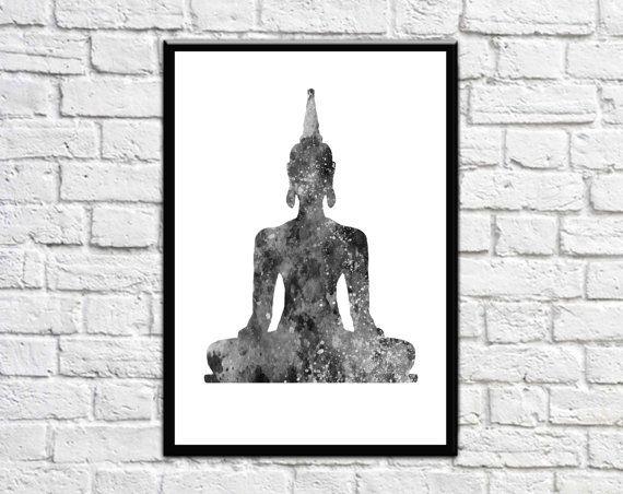 Buddha  Buddha Wall Art   Buddha Decor  Buddha by MotivationalTypo
