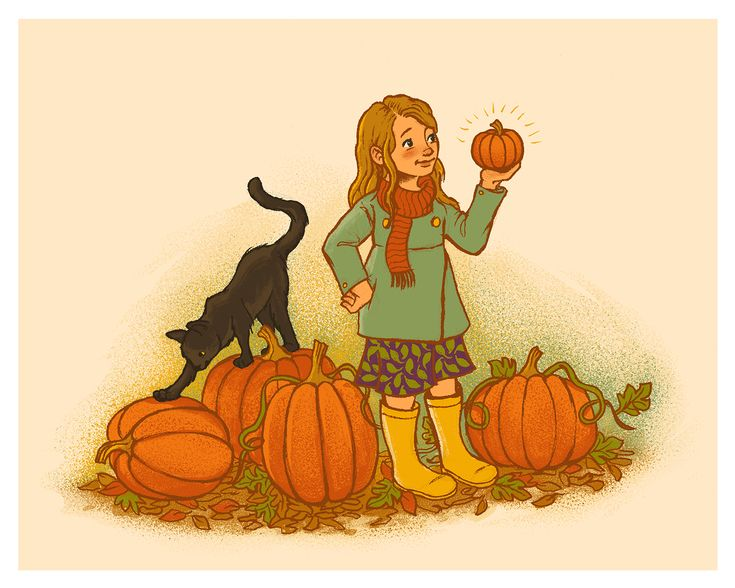 ILLUSTRATION by Courtney Autumn Martin - Pumpkin Picking
